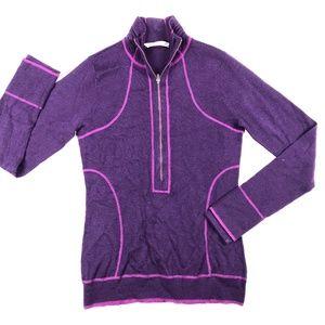 Athleta Swish-It Merino Wool Sweater Boysenberry